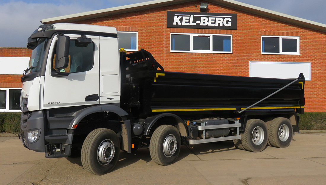 Mercedes 3240K tipper with Kel-Berg aggregate body