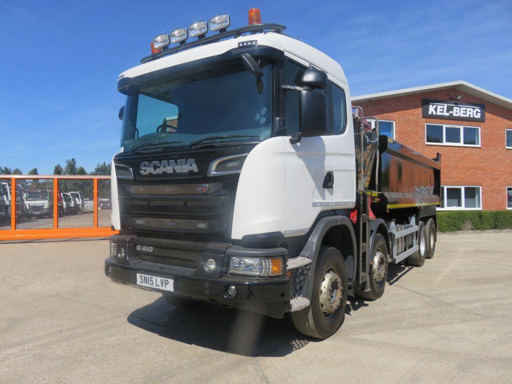2015 Scania G410 8x4 Sleeper Cab, Grab loader,